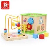 特宝儿 四面铁线串珠绕珠玩具益智男女儿童玩具