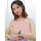 依波(EBOHR)手表 卡纳系列潮流时尚镶钻小绿表显白石英女表