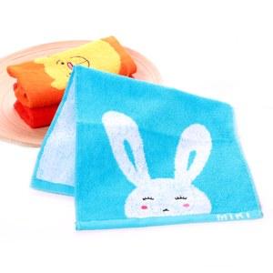 洁丽雅卡通儿童童巾毛巾3条装E3093、94、95-1