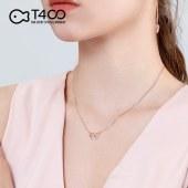 T400  纯银项链女日式轻奢小众设计锁骨链潮网红吊坠简约气质冷淡风饰品 爱心项链