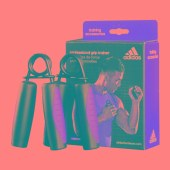 Adidas阿迪达斯握力器男女家用运动健身器材锻炼器械ADAC11400红色2只装外包舒适软柄
