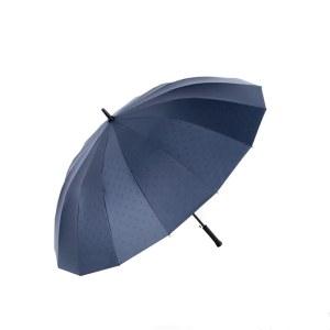 天堂伞16骨长柄伞半自动黑胶加固雨伞 13039E马赛克