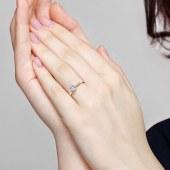 T400莫桑石戒指女925银钻戒求婚结婚纪念日生日礼物 925银莫桑石戒指 一克拉